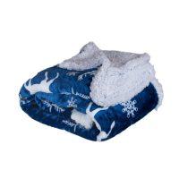 Jahu Beránková deka Jelen modrý