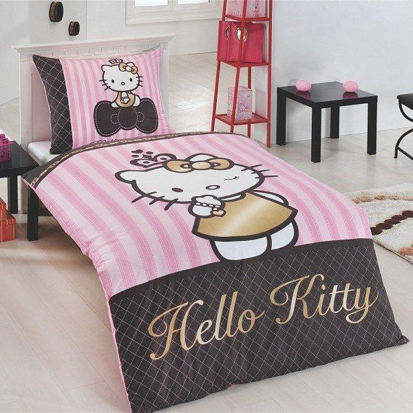 Matějovský Bavlněné povlečení Hello Kitty Gold