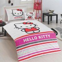 Matějovský Bavlněné povlečení Hello Kitty Stripe
