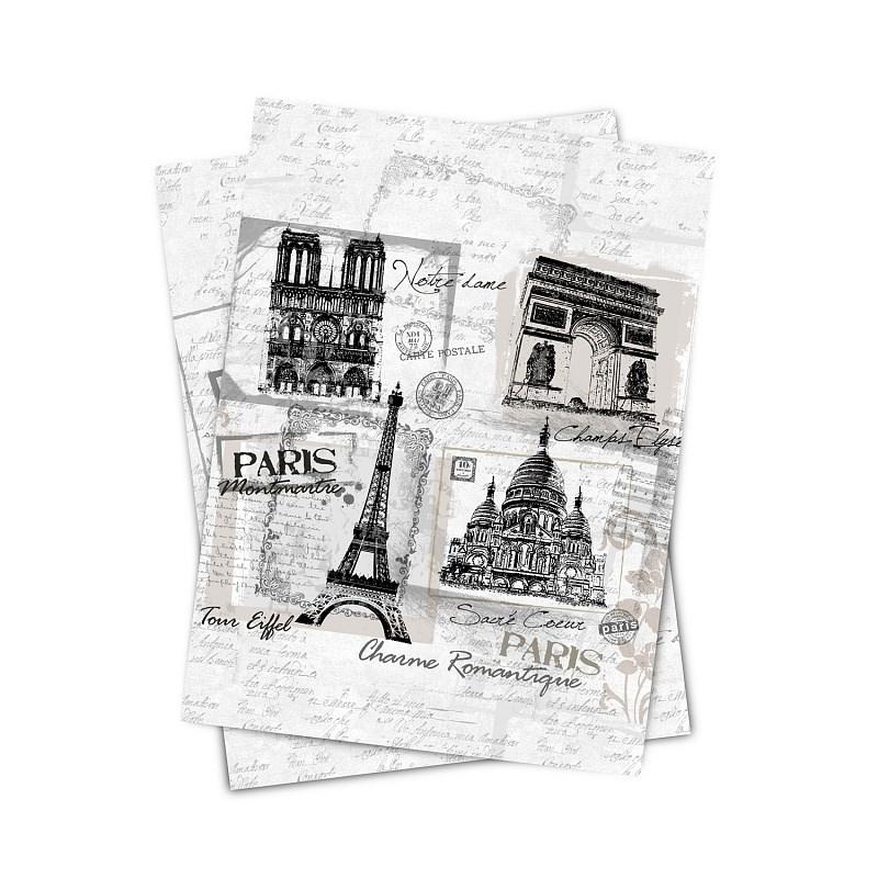 Matějovský kuchyňská utěrka Paris monuments