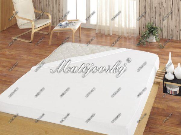Matějovský prostěradlo froté bílá